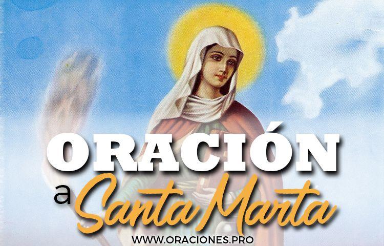 oracion a santa marta
