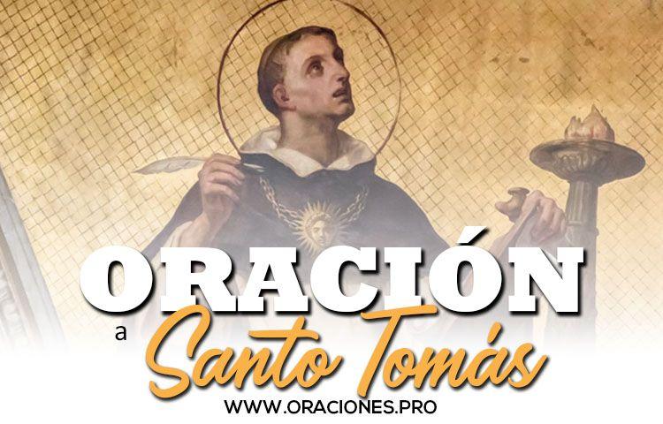 oracion a santo tomas oraciones catolicas