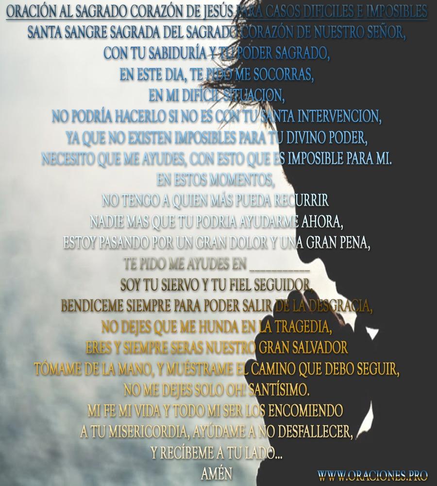Oración Al Sagrado Corazón De Jesús Para Casos Difíciles e Imposibles