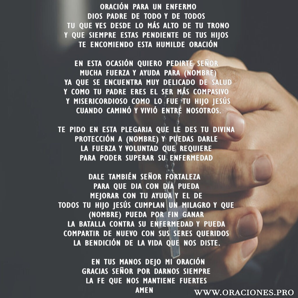 Oración Para Un Enfermo