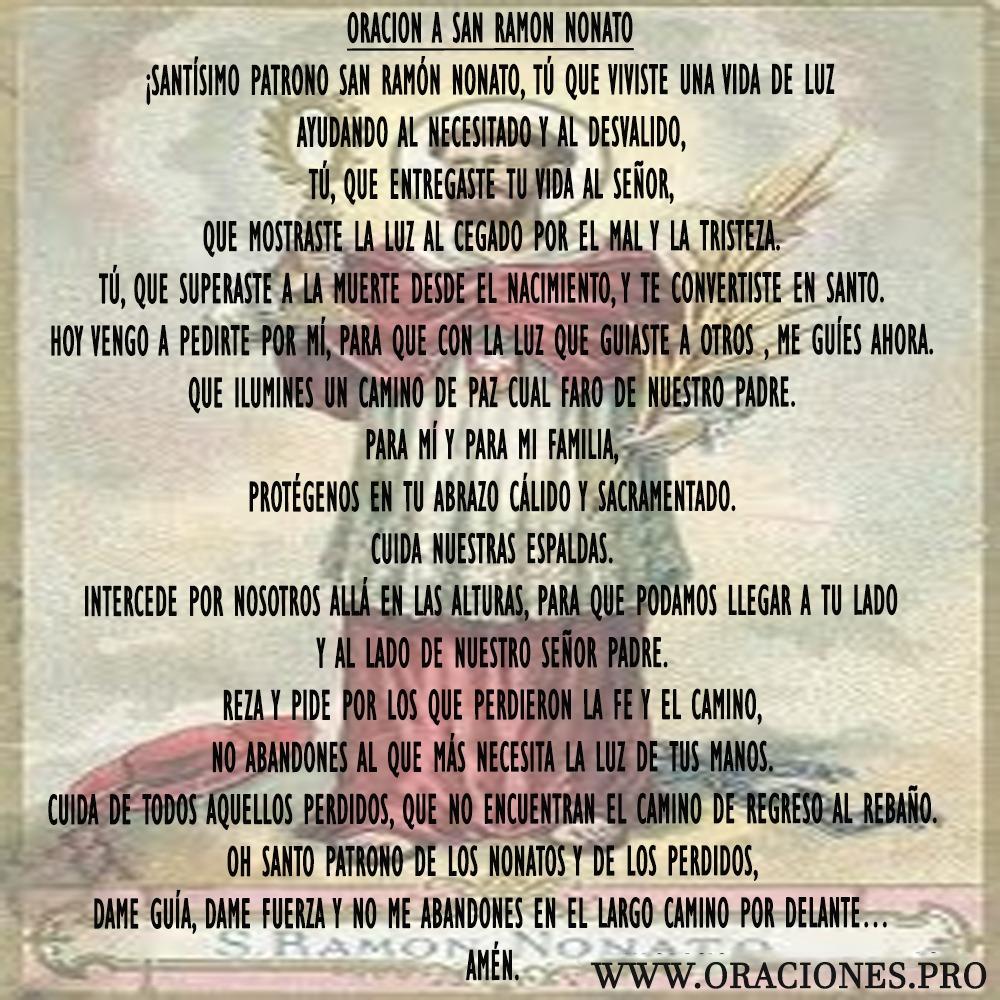 Oración A San Ramon Nonato