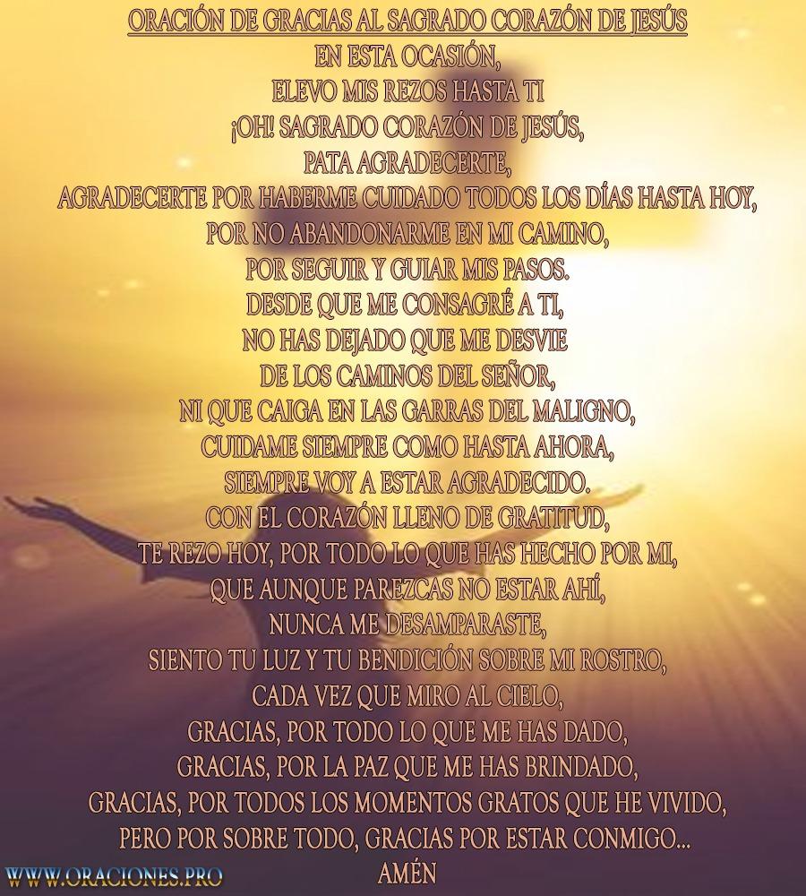 Oración De Gracias Al Sagrado Corazón De Jesús