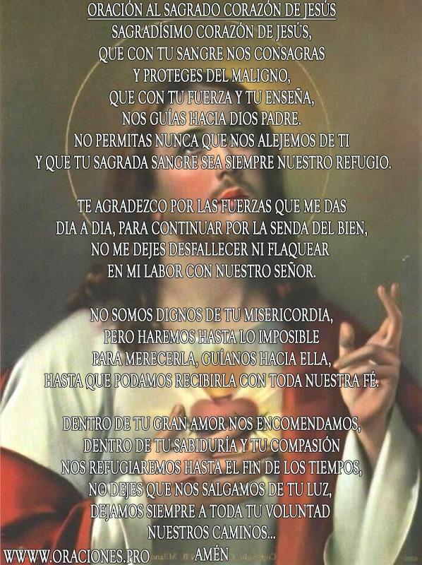Oración Al Sagrado Corazón De Jesús