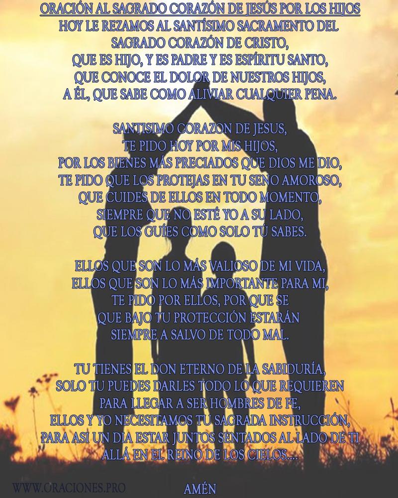 Oración Al Sagrado Corazón De Jesús Por Los Hijos